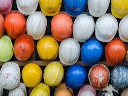 rows of hard hats